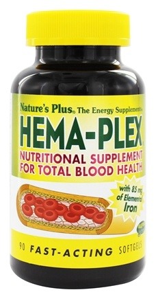 Nature's Plus - Hema-Plex Nutritional Supplement For Total Blood Health - 90 Softgels