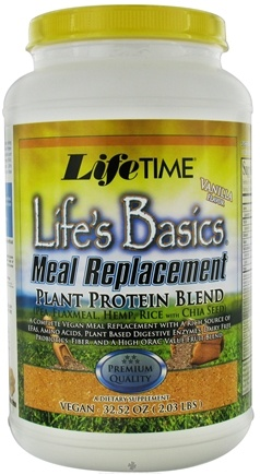 DROPPED: LifeTime Vitamins - Life's Basic Plant Protein Blend Vanilla - 2.03 lbs.