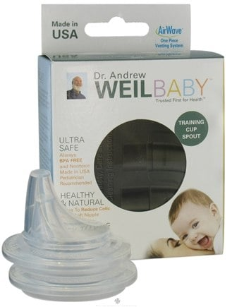 DROPPED: Weil Baby - Silicone Training Cup Spouts With AirWave Venting System BPA Free Soft - 2 Pack