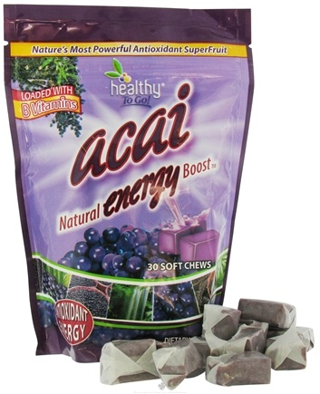 DROPPED: To Go Brands - Healthy To Go Acai Natural Energy Boost - 30 Soft Chews