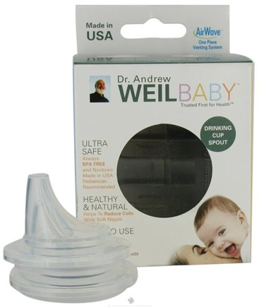 DROPPED: Weil Baby - Silicone Drinking Cup Spouts With AirWave Venting System BPA Free Hard - 2 Pack