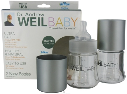 DROPPED: Weil Baby - Tritan Nurser Bottle With AirWave Venting System & Stage 1 Nipple BPA Free 5 oz. - 2 Pack CLEARANCE PRICED