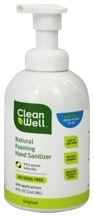 CleanWell - All Natural Foaming Hand Sanitizer Alcohol Free Original - 8 oz.
