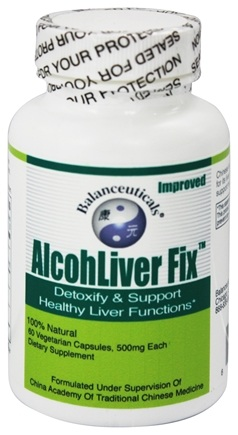 DROPPED: Balanceuticals - Alcohliver Fix Detoxify & Restore Healthy Liver Functions - 60 Vegetarian Capsules