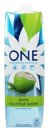 O.N.E. - Coconut Water 100% Natural Fat Free 1 Liter Unflavored - 33.8 oz.
