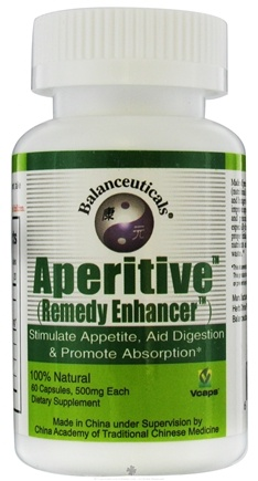 DROPPED: Balanceuticals - Aperitive Remedy Enhancer Stimulate Appetite, Aid Digestion & Promote Absorption 500 mg. - 60 Vegetarian Capsules CLEARANCE PRICED