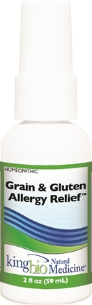 DROPPED: King Bio - Homeopathic Natural Medicine Grain & Gluten Allergy Relief - 2 oz. CLEARANCE PRICED