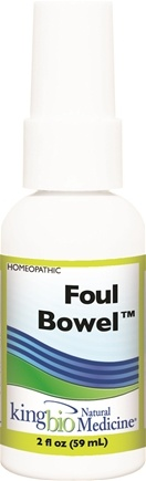 DROPPED: King Bio - Homeopathic Natural Medicine Foul Bowel - 2 oz. CLEARANCE PRICED