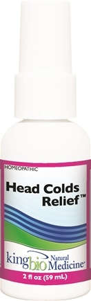 DROPPED: King Bio - Homeopathic Natural Medicine Head Cold Relief - 2 oz. CLEARANCE PRICED