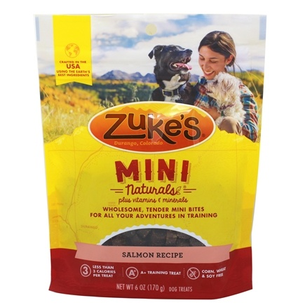 DROPPED: Zuke's - Mini Naturals Dog Treats Salmon Formula - 6 oz.