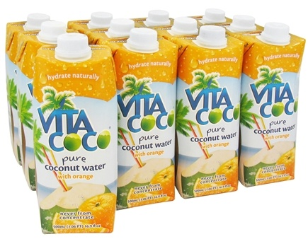 DROPPED: Vita Coco - Coconut Water 100% Pure 500 ml. Orange - 17 oz.