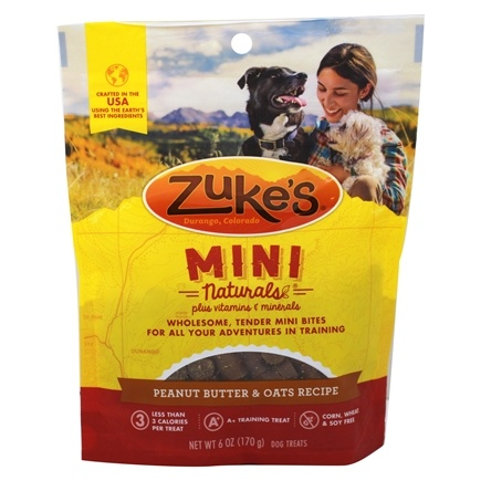 Zuke's - Mini Naturals Dog Treats Fresh Peanut Butter Formula - 6 oz.
