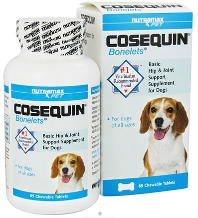 DROPPED: Cosequin - Bonelets Hip & Joint Support Supplement for Dogs - 85 Chewable Tablets