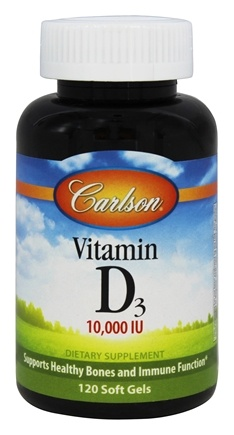 Carlson Labs - Vitamin D3 10000 IU - 120 Softgels