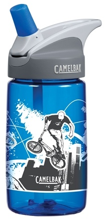 DROPPED: CamelBak - Kids BPA Free Plastic Bottle Blue Bikes Design - 12 oz.