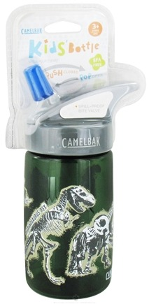 DROPPED: CamelBak - Kids BPA Free Plastic Bottle Green Dino Design - 12 oz. CLEARANCE PRICED