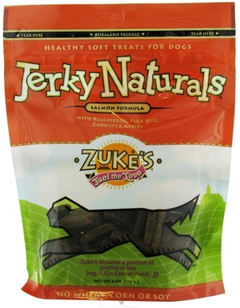 DROPPED: Zuke's - Jerky Naturals Dog Treats Salmon Formula - 6 oz.