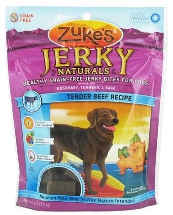 DROPPED: Zuke's - Jerky Naturals Dog Treats Tender Beef Recipe - 6 oz.