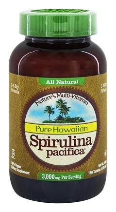 Nutrex Hawaii - Pure Hawaiian Spirulina Pacifica 1000 mg. - 180 Tablets