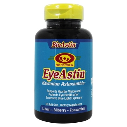 Nutrex Hawaii - EyeAstin MD Formulas Hawaii with Pure Natural Astaxanthin - 60 Softgels