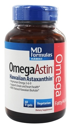 Nutrex Hawaii - OmegaAstin MD Formulas Hawaii With Pure Natural Astaxanthin - 60 Vegetarian Softgels