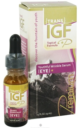 DROPPED: Pure Solutions - Trans-IGF Premium Youthful Eye Serum Deer Velvet Antler Extract - 0.5 oz. CLEARANCE PRICED