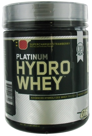 DROPPED: Optimum Nutrition - Platinum Hydro Whey Advanced Hydrolyzed Whey Protein Supercharged Strawberry - 1 lb. CLEARANCE PRICED