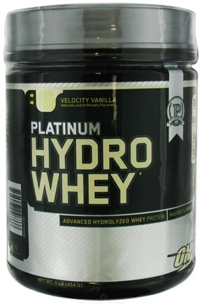 DROPPED: Optimum Nutrition - Platinum Hydro Whey Advanced Hydrolyzed Whey Protein Velocity Vanilla - 1 lb. CLEARANCE PRICE