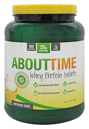 DROPPED: About Time - Whey Protein Isolate Birthday Cake - 2 lbs.