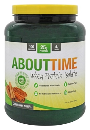 About Time - Whey Protein Isolate Cinnamon Swirl - 2 lbs.