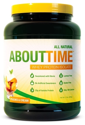 DROPPED: About Time - Whey Protein Isolate Peaches & Cream - 2 lbs.