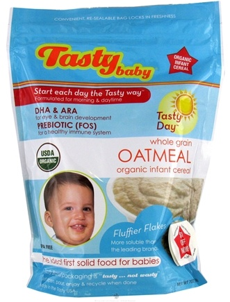DROPPED: Tasty Brand - Tasty Baby Oatmeal Organic Infant Cereal - 7 oz.
