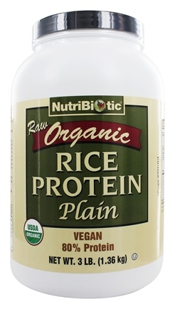 Nutribiotic - Organic Vegan Rice Protein Plain Flavor - 3 lbs.