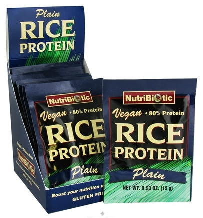 DROPPED: Nutribiotic - Vegan Rice Protein Plain Flavor - 12 Packet(s) CLEARANCE PRICED