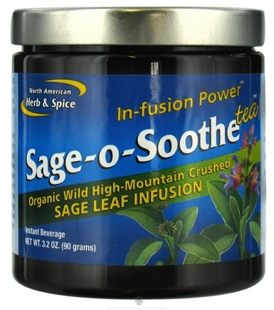 DROPPED: North American Herb & Spice - In-Fusion Power Sage-o-Soothe Tea Sage Leaf Infusion - 3.2 oz. CLEARANCE PRICED