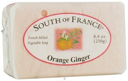 DROPPED: South of France - French Milled Vegetable Bar Soap Orange Ginger - 8.8 oz. CLEARANCE PRICED