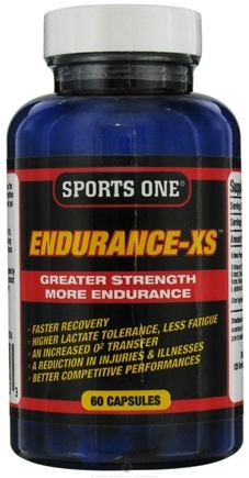 DROPPED: Sports One - Endurance-XS Greater Strength More Endurance - 60 Capsules CLEARANCE PRICED