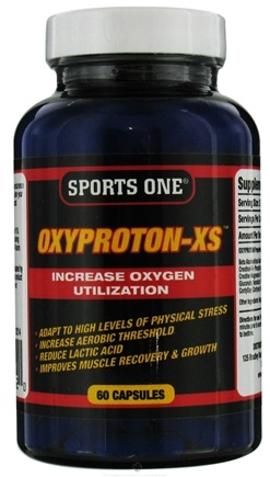 DROPPED: Sports One - Oxyproton-XS Increase Oxygen Utilization - 60 Capsules CLEARANCE PRICED