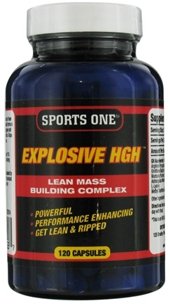 DROPPED: Sports One - Explosive HGH Lean Mass Building Complex - 120 Capsules CLEARANCE PRICED