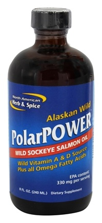 North American Herb & Spice - Alaskan Wild Polar Power Sockeye Salmon Oil - 8 oz.