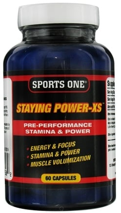 DROPPED: Sports One - Staying Power-XS Pre-Performance Stamina & Power - 60 Capsules CLEARANCE PRICED