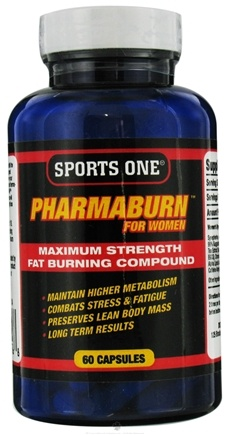 DROPPED: Sports One - Pharmaburn Maximum Strength Fat Burning Compound For Women - 60 Capsules CLEARANCE PRICED