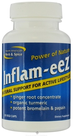 DROPPED: North American Herb & Spice - Power Of Nature Inflam-eez Natural Support For Active Lifestyles - 30 Vegetarian Capsules CLEARANCE PRICED