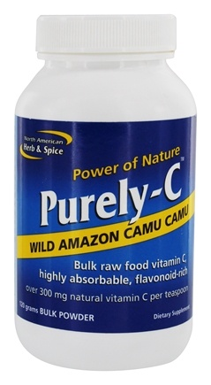 DROPPED: North American Herb & Spice - Power Of Nature Purely-C Wild Amazon Camu Camu Bulk Powder - 120 Grams CLEARANCE PRICED