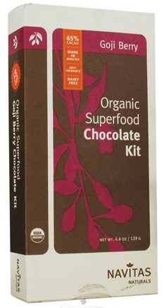 DROPPED: Navitas Naturals - Organic Superfood Chocolate Goji Berry Kit - 4.6 oz. CLEARANCE PRICED