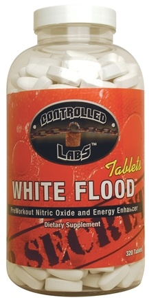 DROPPED: Controlled Labs - White Flood PreWorkout Nitric Oxide and Energy Enhancer - 320 Tablets