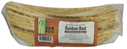 "DROPPED: Bamboo Studio - Bamboo Dinnerware Bamboo Boat Reusable Disposable 7"" - 12 Pack"