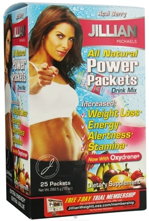 DROPPED: Thin Care International - Jillian Michaels All Natural Power Packets Drink Mix Wild Berry - 25 Packet(s) CLEARANCE PRICED