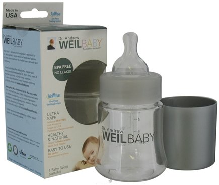 DROPPED: Weil Baby - Tritan Nurser Bottle With AirWave Venting System & Stage 1 Nipple BPA Free - 5 oz. CLEARANCE PRICED