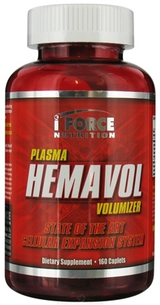 DROPPED: iForce Nutrition - Hemavol Plasma Volumizer - 160 Caplets CLEARANCE PRICED